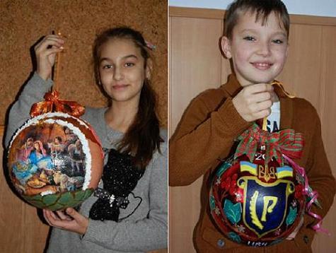 """Переможці конкурсу """"Подаруй ялинці іграшку"""", """"Краща новорічна листівка"""""""